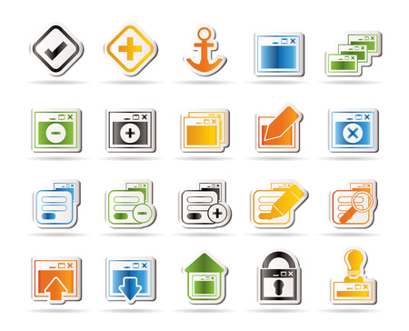 Application, Programming, Server and computer icons   Vector