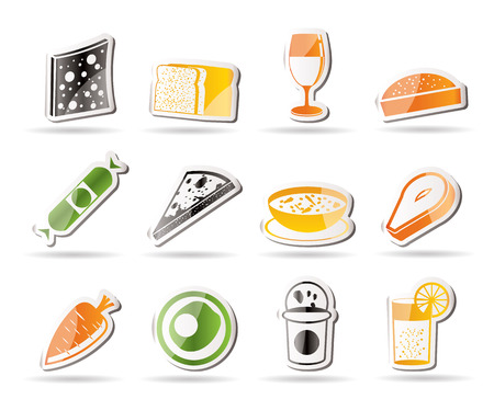 Shop, food and drink icons Stock Vector - 7880245