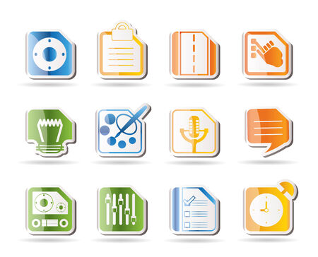 Mobile Phone, Computer and Internet Icons Stock Vector - 7880213