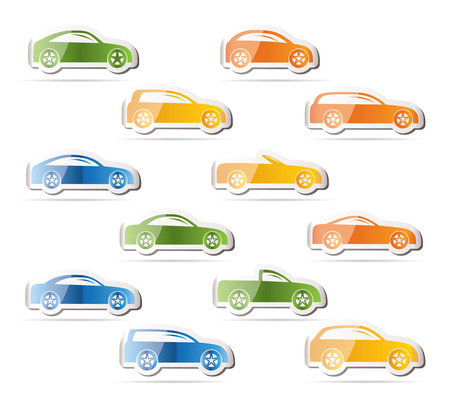 combi: different types of cars icons