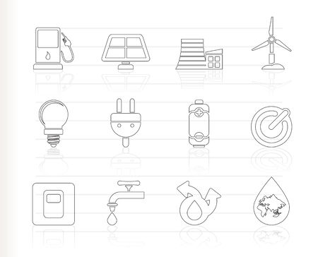 Ecology, power and energy icons Stock Vector - 8033091