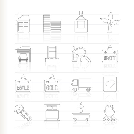 Real Estate and building icons  Stock Vector - 8033169