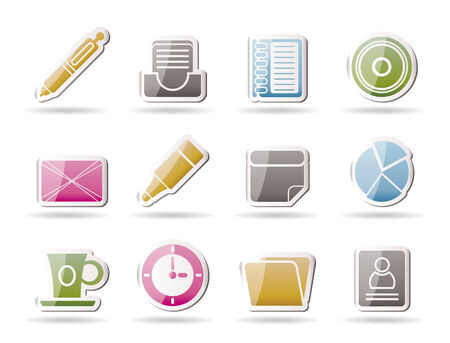 Office &amp, Business Icons  Vector