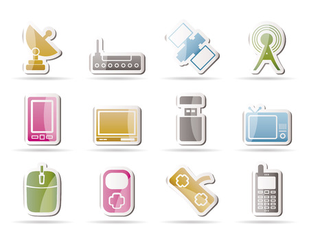 technology and Communications icons Stock Vector - 8033086