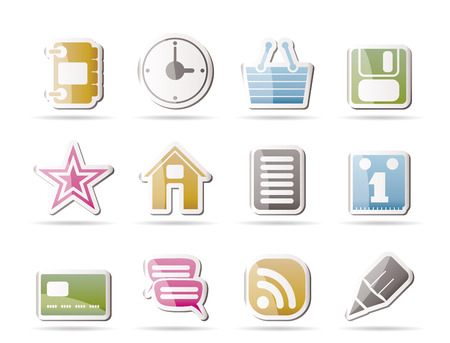 Internet and Website Icons  Stock Vector - 8033087
