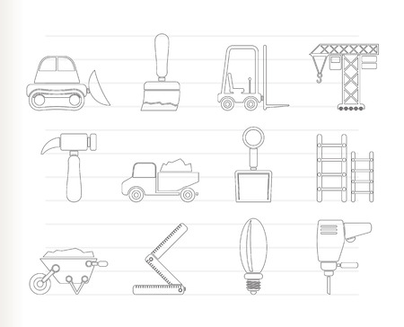 Building and Construction equipment icons Stock Vector - 8033088