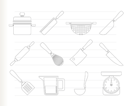 strainer: Cooking equipment and tools icons