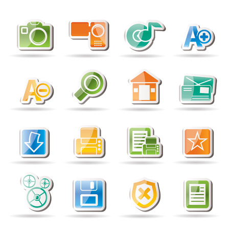 Internet and Website icons Stock Vector - 8033135