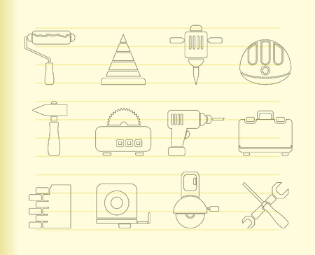 Building and Construction Tools icons  Stock Vector - 8033076