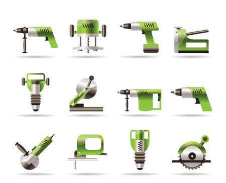 Gebouw en hulpmiddelen van de bouw pictogrammen