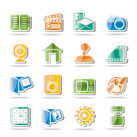 Internet, Computer and mobile phone icons  Vector