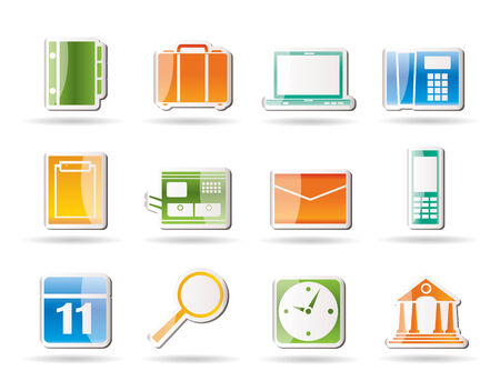 Business, Office and Mobile phone icons  Vector