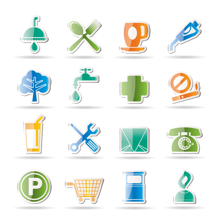 tree service business: Petrol Station and Travel icons  Illustration