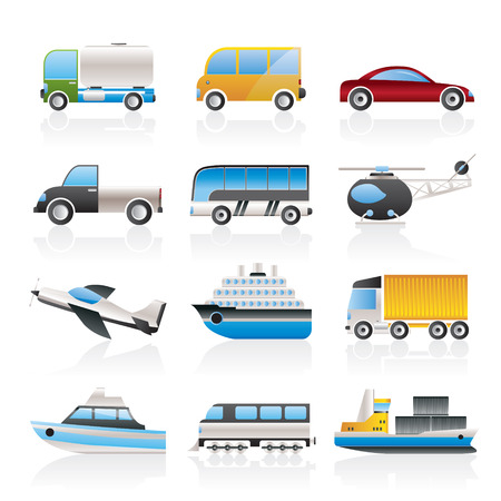 Travel and transportation icons Stock Vector - 8033192