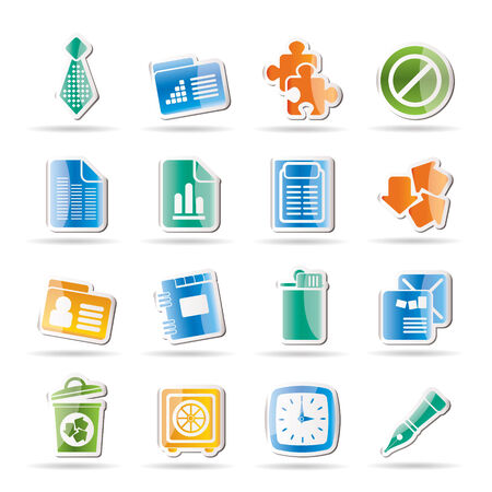 Business and Office Icons  Stock Vector - 8033205