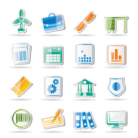 Business and Office Icons Stock Vector - 8033203