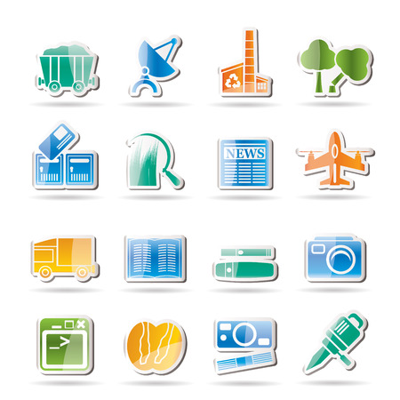 Business and industry icons  Stock Vector - 8033200