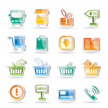 add to shopping cart icon: Online shop icons  Illustration