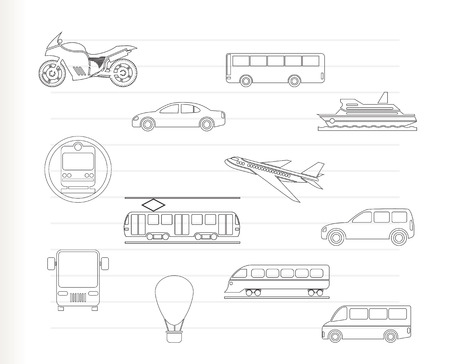 motorbus: Travel and transportation of people icons