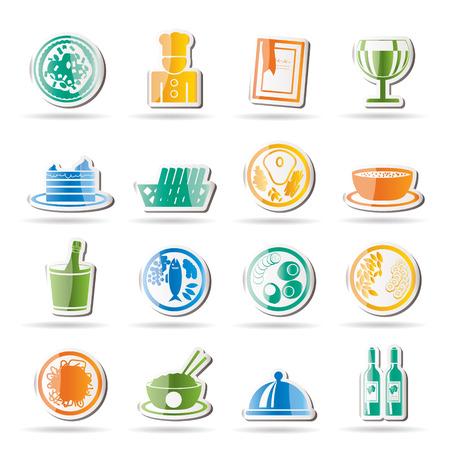 고명: Restaurant, food and drink icons - icon set