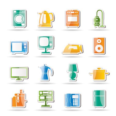 home equipment icons - icon set Stock Vector - 8130855