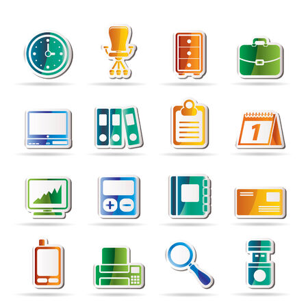 Business and office icons - icon set Stock Vector - 8130854