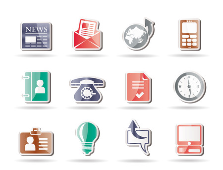 datebook: Business and office icons - icon set Illustration