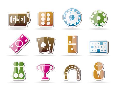 pledge: gambling and casino Icons - icon set