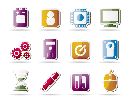 Computer and mobile phone elements icon - icon set Vector
