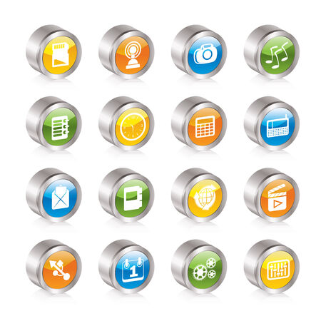 Phone  Performance, Internet and Office Icons - Icon Set Vector