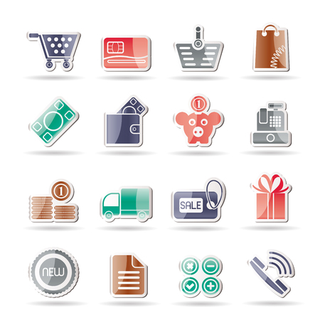 Online shop icons Stock Vector - 8130922
