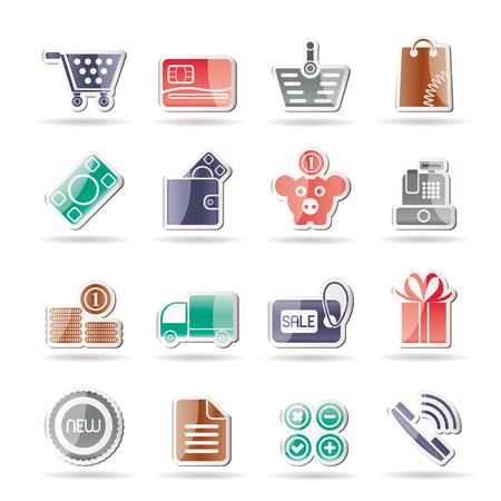 cash box: Online shop icons  Illustration