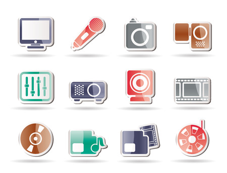 Media equipment icons - icon set Stock Vector - 8130900