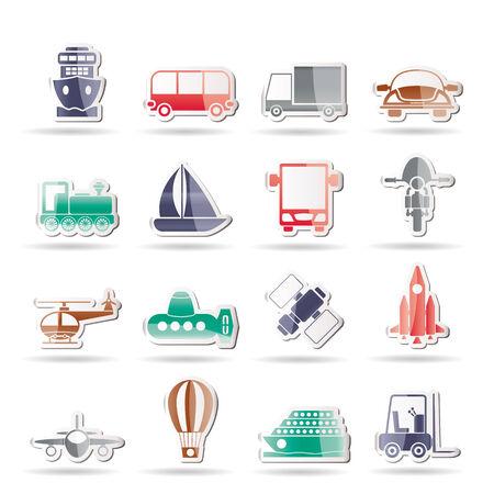 buss: Transportation, travel and shipment icons Illustration