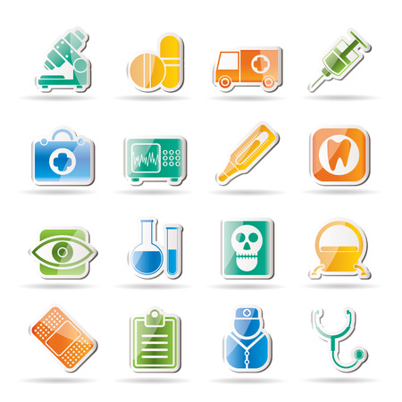 medical, hospital and health care icons - icon set Stock Vector - 8130915