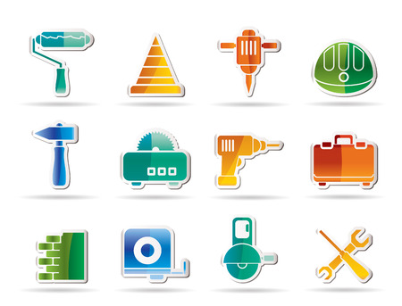 Building and Construction Tools icons - Icon Set Stock Vector - 8130903