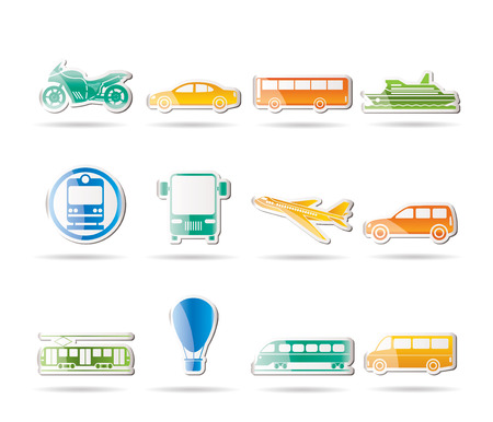omnibus: Travel and transportation of people icons - icon set