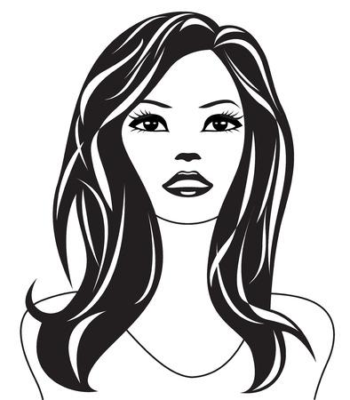 Abstract woman portrait - illustration Vector