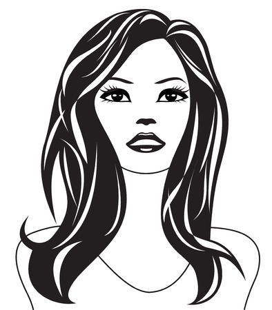 shoulders: Abstract woman portrait - illustration
