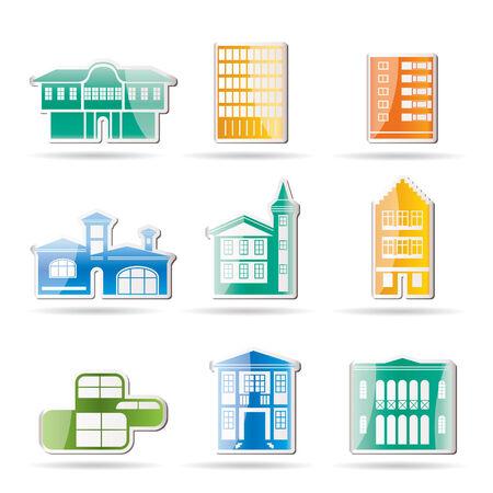 interior designer: different kind of houses and buildings   Illustration  Illustration