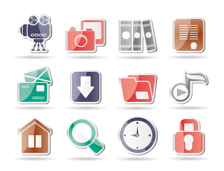 Computer and website icons Stock Vector - 8195819