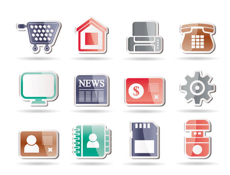 Business, office and website icons   Vector