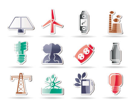 Power, energy and electricity icons Stock Vector - 8195862