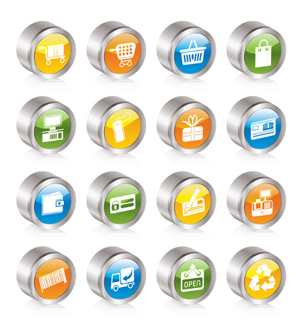 Simple Online Shop icons Stock Vector - 8195869