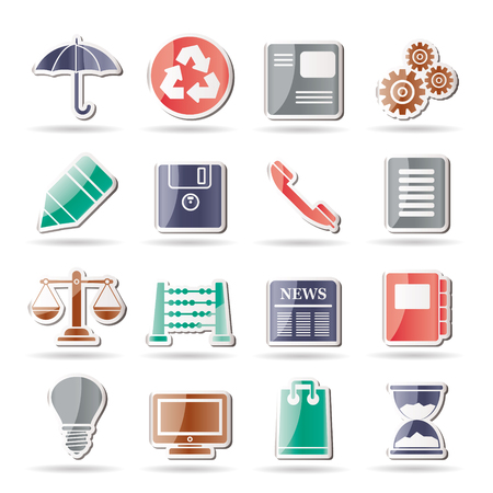 Business and Office internet Icons   Stock Vector - 8195865