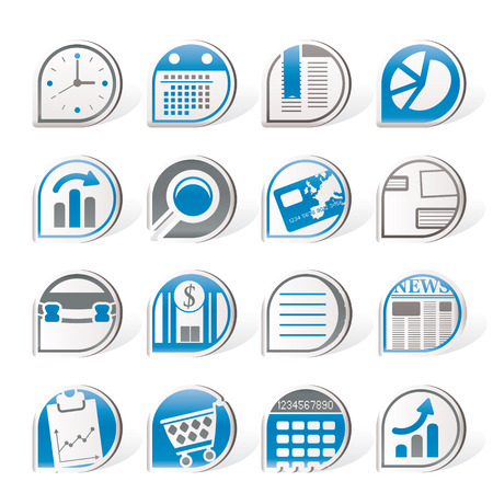Simple Business and Office  Internet Icons   Stock Vector - 8195864