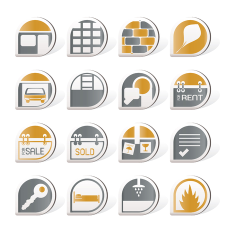 Real Estate icons Stock Vector - 8195830