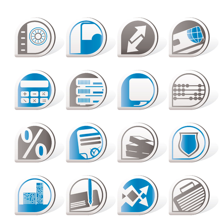 valise: Simple bank, business, finance and office icons