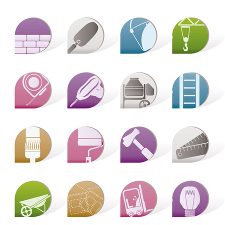 Construction and Building icons -  Icon Set Stock Vector - 8195826