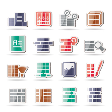 filters: Database and Table Formatting Icons